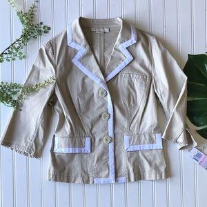 Michael Michael kors blazer tan white khaki NWT